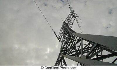 elektryczność, timelapse., stacja, moc
