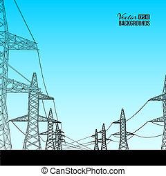elektryczność, transmission.