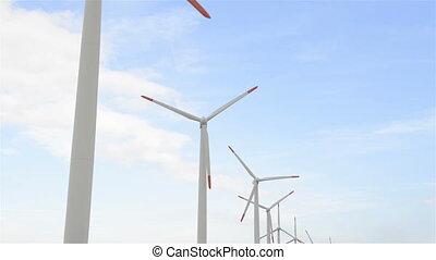 elektryczność, turbiny, wiatr