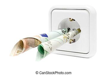 elektryczność, wydatki