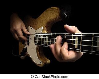 elektryczny bas, gitara