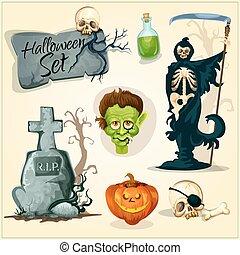 elemens, conceptions, halloween, horreur, terrifiant