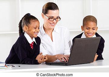elementär, Undervisning, lärare, Elever