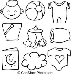 Element baby of doodle set