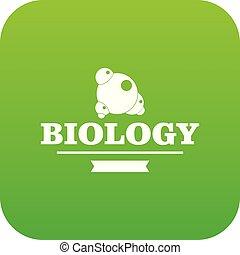element, biologie, vektor, grün, ikone