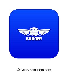 Element burger icon blue