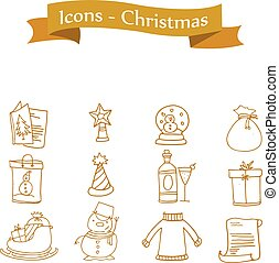 Element Christmas of icons vector
