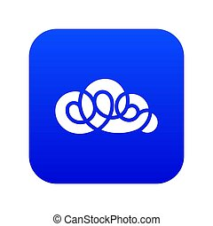 Element cloud icon blue