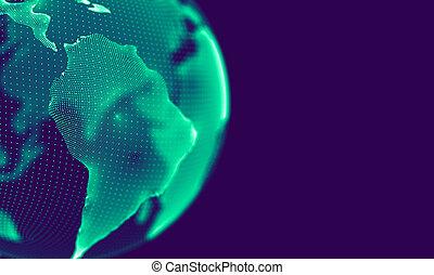 element, cząstki, abstrakcyjny, połączenie, onnecting, technologia, błękitne tło, geometryczny, handlowy, kropkuje, nauka, purpurowy, tło., cielna, structure., hud, kwestia, dane, futurystyczny