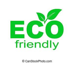 element., eco, amichevole, disegno, environment., vettore