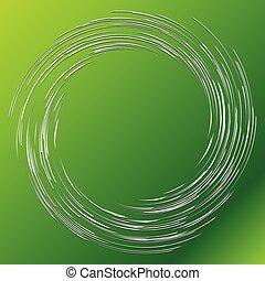 element., elemento, giro, curvy, twist., ondulado, radial, ...