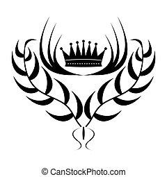 Element for design. crown