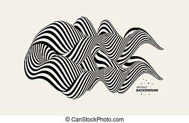 element., illustration., ベクトル, デザイン, art., 抽象的, 光学