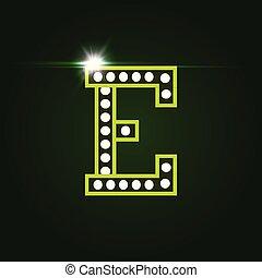 element., litera, ozdoba, kasyno, jarzący się, wektor, template., uciekanie się, e., border., logo, gems., monogram, skutek, luksus, rozrywka, highlight
