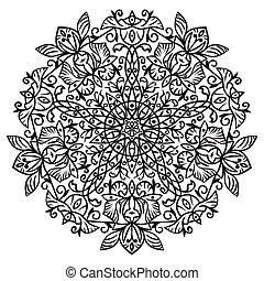element., main, zentangle, dessin