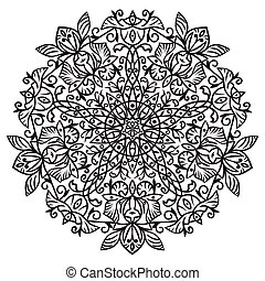 element., mano, zentangle, dibujo