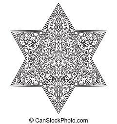 element., mano, zentangle, disegno