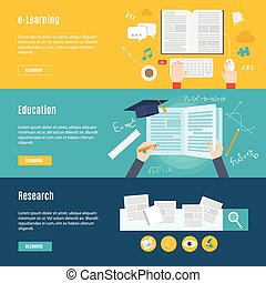 Element of education concept icon in flat design