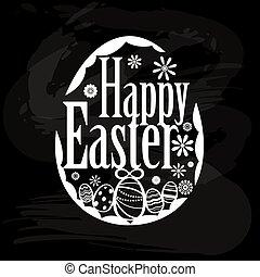 Design element for Easter holiday on a blackboard illustration