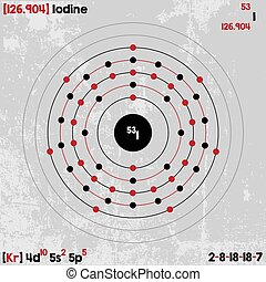 Iodine chemical element colored icon with atomic number and clip element of iodine urtaz Choice Image