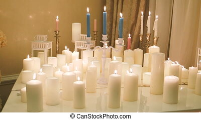 Element of the decor - lots of burning candles