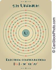 Element of Uranium - Large and detailed atomic model of...