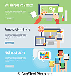 Element of website and mobile icon in flat design