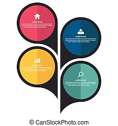 Element Set Colored Pin Vector Image