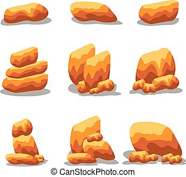 Element stone set collection vector