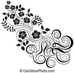 element, vector, ontwerp, floral