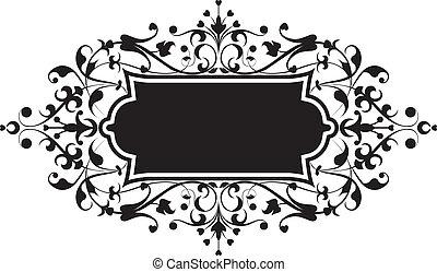 element, voor, ontwerp, bloemen, ornament