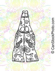 Element yoga mudra hands namaste