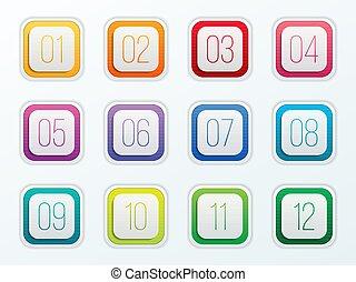 element, zahl, punkte, abstrakt, grafik, vektor, kugel, freigestellt, design., abbildung, begriff, durchsichtig, kunst, steigung, wohnung, web, 12, kreativ, template., hintergrund., farbe, satz, heiligenbilder, 1