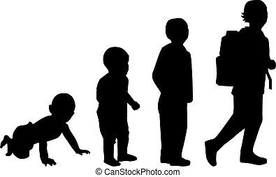 elementar, bebê, escola, criança