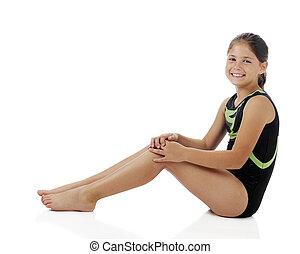elementar, gymnist, relaxado