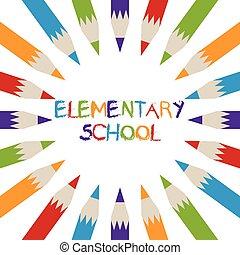 elementar, logo, schule