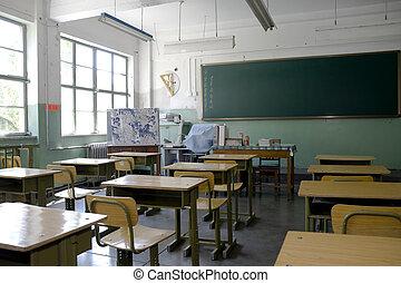 elementar, sala aula, escola