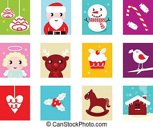 elementara, 2, isolerat, kalender, -, jul, advent, vit