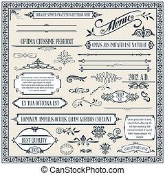 elementara, design, calligraphic