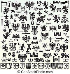 elementara, heraldisk, design