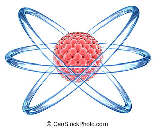elementare, 3d, -, particella, atomo