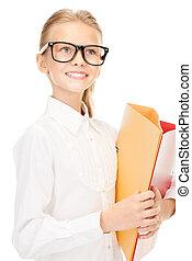 elementare, cartelle, alunno