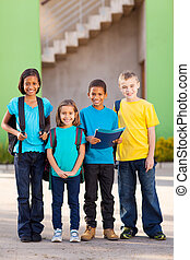 elementarny, studenci, szkoła, grupa
