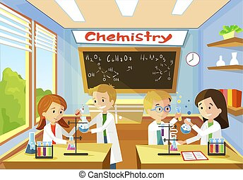 Elementary Class School Chemistry for Children.