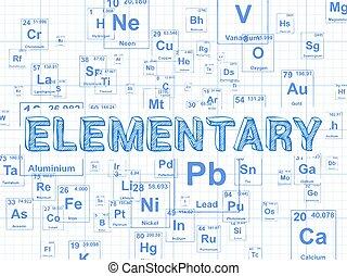Research element graph paper background research word on periodic elementary element graph paper background elementary word on periodic table symbols urtaz Gallery