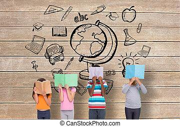 Elementary pupils reading