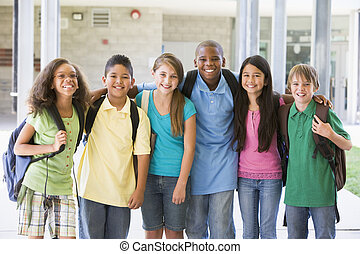 Elementary school class outside