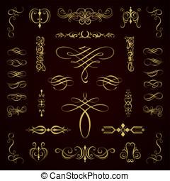 elemente, calligraphic