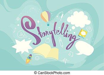 elemente, design, storytelling, abbildung