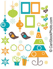 elemente, design, weihnachten